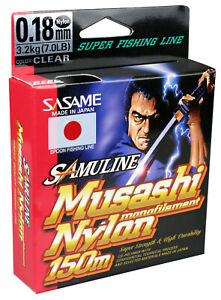 FTM Sasame Samuline Musashi 0,18mm 150m 3,2kg 8800018 Forellenschnur Spoonangeln