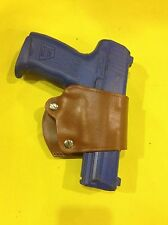 Leather YAQUI Style Holster -  H&K USP, P30, P2000, VP9.  (#049 BRN)