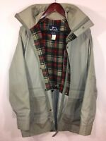 VTG Mens WOOLRICH #7378 Coat Parka Jacket Tan Full Zip Plaid Wool Lining M USA