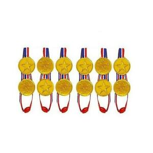 3, 6, 12, 24, 48, 96 GOLD WINNERS MEDAL OLYMPIC KIDS IDEAL FOR PARTY BAG FILLERS