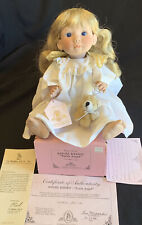 1996 Original Lee Middleton Hand Signed Baby Doll Earth Angel Kisses #154 w/Coa