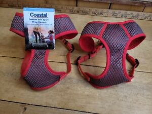 """Coastal Pet Sport Wrap Adjustable Harness RED Small Girth Size 19-23"""" Lot of 2"""