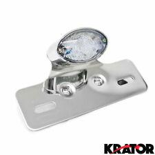 Universal Cat Eye LED Custom Motorcycle Tail Brake Light License Plate Holder