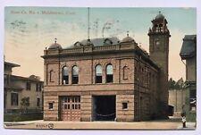 1909 CT Postcard Middletown Connecticut Vintage Fire Department Hose Co No 1