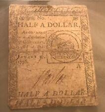 Continental currency CC-21  February 1776  1/2 dollar , PMG F15