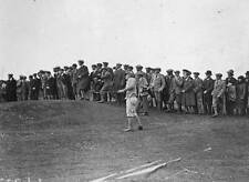 OLD PHOTO of 1923 Johnny Farrell at An Approach During The British Open Golf