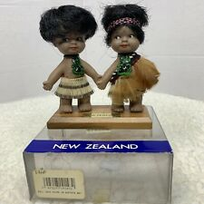 Adorable Pair Maori Dolls New Zealand In Package 4""