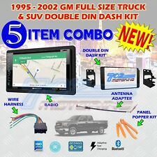1995-2002 GM FULL SIZE TRUCK & SUV DOUBLE DIN CAR STEREO INSTALLATION DASH KIT F