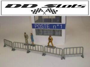 DD Slots Scalextric Slot Car Accessory Crowd Barriers x5 - 1:32 Scale – NEW -...