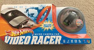 NEW in box  Hot Wheels Video Racer Micro Camera Car w/ LCD Screen  Black / Green