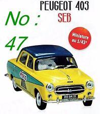 1/43 - IXO -  PEUGEOT 403 MOKA SEB TOUR DE FRANCE