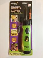 Halloween Works~Battery Powered~Pumpkin Carver~Changeable Blades & Detailer~New
