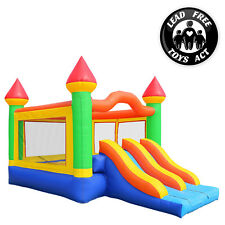 Commercial Grade Mega Double Slide Bounce House and Blower