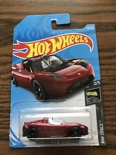 "Hot Wheels #109 HW Space 2/5 TESLA ROADSTER WITH STARMAN ""rare"""