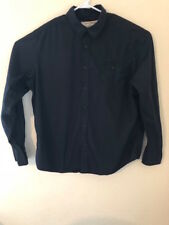 Men's DKNY Jeans XL Black Shirt  with an eagle on the back button down the front