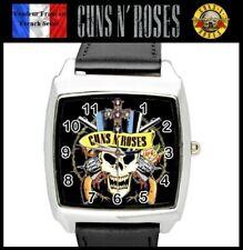 Montre à quartz NEUVE Bracelet Cuir ! ( Watch ) - Guns and Roses Hard Rock