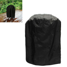 Large Black BBQ Gas Grill Cover Round Heavy Duty Waterproof Barbecue Smoker Case
