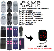 CAME TOP, TWIN, TAM Remote Control Duplicator 315MHz. 433.92MHz. 868.35MHz.