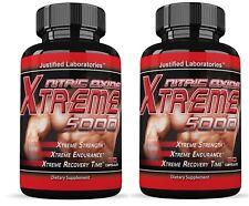 2 x Xtreme 5000 Extreme Arginine Nitric Oxide Glutamine Muscle Pump 60 Caps