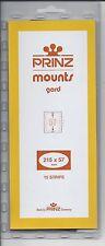 Package of 15 Prinz CLEAR Mounts 215 x 57