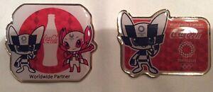 2 pcs Coca Cola Tokyo 2020 Olympic pins