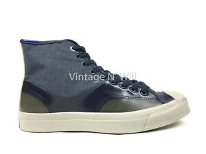 Converse Jack Purcell x Hancock Mens 9 Hi Airforce Blue/ Army Green Shoe