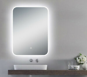 """LED Backlit Illuminated Mirror 48"""". Wall Mounted for Bathroom, Makeup."""