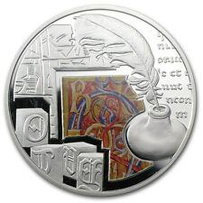 2011 Niue 1$ Mankind's Crucial Achievements WRITING Silver Coin Proof Australia