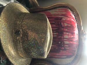 PHILIP TREACY GOLD HAT Size m brand new