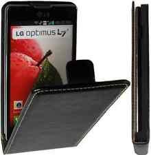 LG Optimus L7 2 Premium Flip PU Ledertasche Vertikal Handytasche Schwarz-2 Case