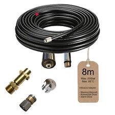 8m Rohrreinigungsschlauch + Bajonett + 2 Düsen für Kärcher Hochdruckreiniger