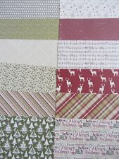 "12 x Glad Tidings 6"" x 6"" Papers  For Cardmaking & Scrapbooking"