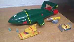 THUNDERBIRD 2 & 4 SUPERSIZE with WORKING SOUNDS + MOLE+FIREFLY+2 MINI FIGURES !!