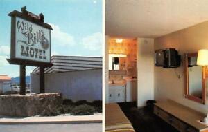 CARSON CITY, Nevada NV    WILD BILL'S MOTEL  Room View ROADSIDE Vintage Postcard