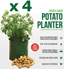 4 x Potato Tomato Bag Planter Grow Your Own Sack Spuds Tub Patio Potatoes Garden
