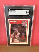 1989-90 Fleer Basketball Joe Dumars #45 SGC 7 NM Graded Card Detroit Pistons