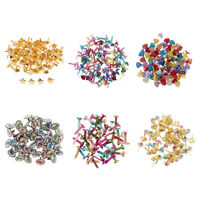50/100pc Metal Heart Round Split Pins Brads Paper Fastener for Scrapbooking