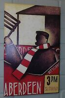 Aberdeen FC Retro Shirt Canvas *NEW* Original Framed Varnished