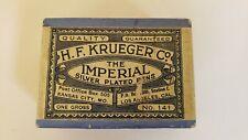 30 Antique H.F. Krueger Co Imperial Silver Plated Pens Medium Pellet Point Engla