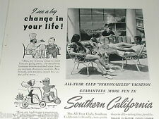 1940 Southern California Tourism ad, All-Year Club