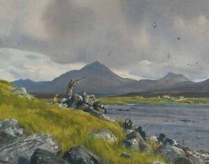 Sir Ogden Pleissner Rex Benson Shooting Pintail Canvas Print  #3934