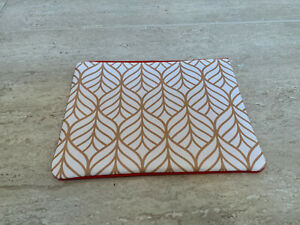 Yves Rocher Designer Red and Gold Zipped Top Make up Bag - Brand new