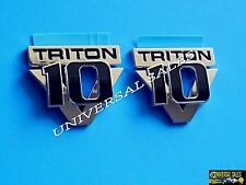 PAIR V10 TRITON SUPER DUTY SET F250 F350 F450 REAR FENDER EMBLEM BADGE NEW