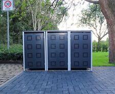 3 Mülltonnenboxen Modell No.5 Anthrazitgrau für 240 Liter Mülltonnen