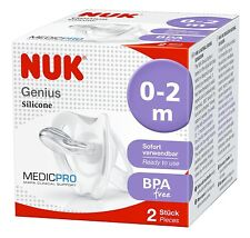 NUK Medic Pro Genius Soother Dummy for Premature and Newborn (0 to 2m Pack of 2)