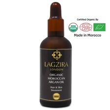 Pure Argan Oil Hair Treatment Serum Of Morocco Lagzira London 100% Organic 100ml