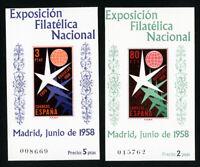 Spain Stamps # 877A-8A XF OG NH S/S Set of 2 Scott Value $55.00