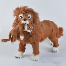 2Pcs Giant Simulation Lion Stuffed Plush Soft Toys Stand Lion Doll Birthday Gift