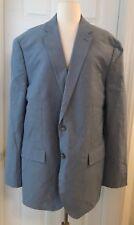 J.CREW CROSBY SUIT JACKET IN ITALIAN COTTON OXFORD CLOTH 46L RUSTIC BLUE C4868