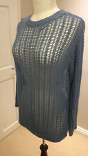 M & S Limited Edition Blue Lace Knit Jumper Size 10